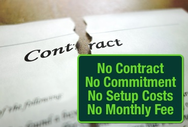 No Contract, Commitments or Setup Fees